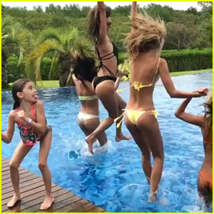 Alessandra Ambrosio & Her Girlfriends Make a Splash in Brazil!