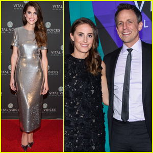 Allison Williams & Seth Meyers Host Voices of Solidarity Event