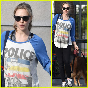 Amanda Seyfried Takes Her Baby Bump & Dog Finn for a Walk