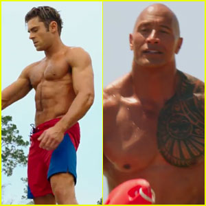 Zac Efron & Dwayne Johnson's 'Baywatch' Trailer Has So Many Shirtless Moments! (VIDEO)