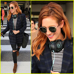 Brittany Snow Shows Off New Hair Color After Landing at LAX