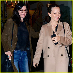 Courteney Cox Grabs Dinner with Pal Jennifer Meyer in WeHo