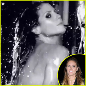 Heidi Klum Takes Steamy Bath For Love Mag's Advent Calendar