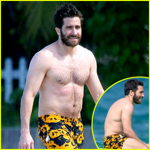 Jake Gyllenhaal Goes Shirtless in St. Barts, Takes a Surfing Lesson with Greta Caruso!