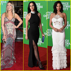 Jennifer Aniston is Joined by Katy Perry at 'Office Christmas Party' Premiere!