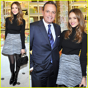 Jessica Alba Celebrates Grand Opening Of Laduree at The Grove!