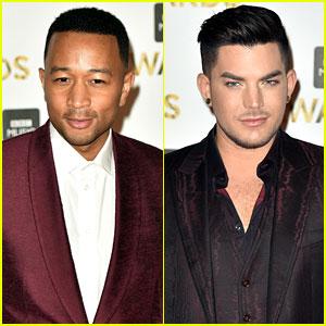 John Legend & Adam Lambert Look Sharp in Suits at BBC Music Awards!