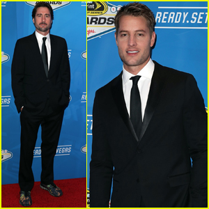 Justin Hartley & Luke Wilson Step Out at NASCAR Awards