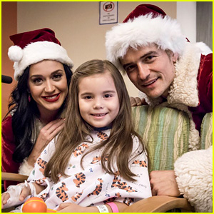 Katy Perry & Orlando Bloom Dress as Santa & Mrs. Claus for Children's Hospital Visit!
