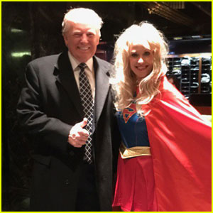 Donald Trump's Campaign Manager Kellyanne Conway Dresses as Superwoman