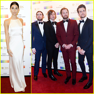 Lily Aldridge & Kings Of Leon Rock Red Carpet At Kennedy Center Honors 2016!