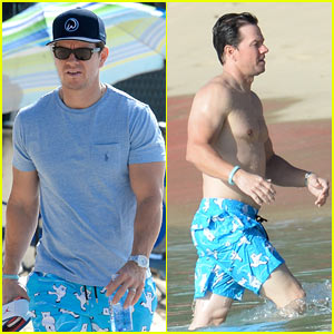 Mark Wahlberg Debuts Shorter Hair While on Vacation!
