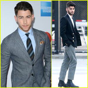 Stupendous Nick Jonas Zayn Malik Suit Up For Billboard Women In Music Hairstyle Inspiration Daily Dogsangcom