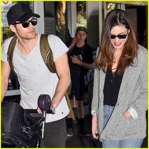 Paul Wesley & Phoebe Tonkin Jet To Her Home in Australia For The Holidays!