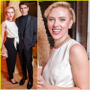 Scarlett Johansson & Husband Romain Dauriac Celebrate 'Yummy Pop' Grand Opening