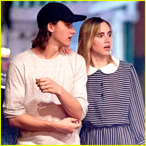Suki Waterhouse Takes Nighttime Stroll With Brother Charlie in Barbados