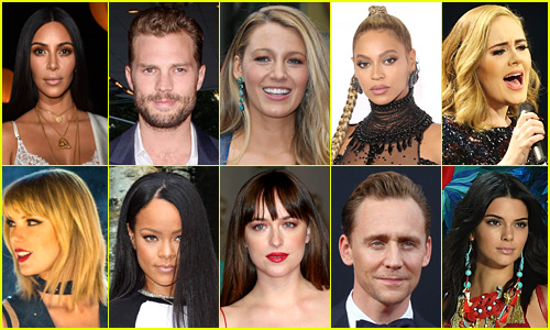 The 50 Most Popular Celebrities on Just Jared in 2016