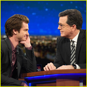 VIDEO: Andrew Garfield Kisses Stephen Colbert Twice On 'The Late Show'