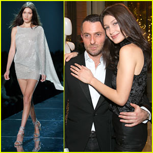 Bella Hadid Shines in Diamond-Covered Dress for Alexandre Vauthier Fashion Show