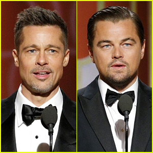 Brad Pitt & Leonardo DiCaprio Are Hot Presenters at Golden Globes 2017!