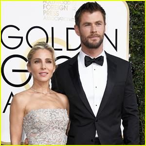 Chris Hemsworth's Kids Adorably Watch Him Present At Golden Globes 2017!