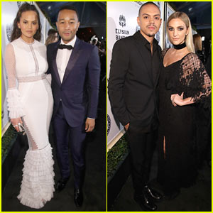 Chrissy Teigen & John Legend Join Evan Ross & Ashlee Simpson at Art of Elysium Gala 2017!