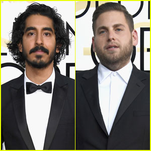 Dev Patel & Jonah Hill Hit Golden Globes 2017 Red Carpet