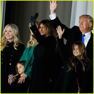 Donald Trump's Kids & Grandchildren Join Him at Lincoln Memorial for Inaugural Concert