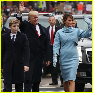 VIDEO: Donald Trump Walks in Inaugural Parade With Melania & Barron
