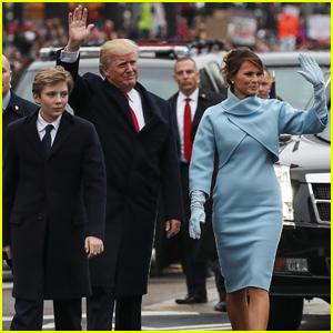 VIDEO: Donald Trump Walks in Inaugural Parade With Melania & Barron