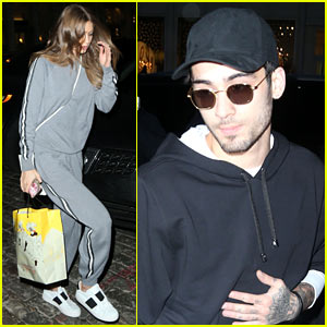 Gigi Hadid Hangs Out With Zayn Malik Before 'I Don't Wanna Live Forever' Video Release