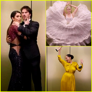 The Golden Globes After Party Had a Super Cool Photo Booth!