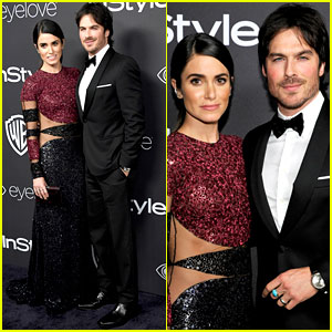 Ian Somerhalder & Nikki Reed Make One Hot Couple at Golden Globes 2017 After Party!
