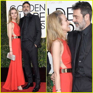 Jeffrey Dean Morgan & Hilarie Burton Look So in Love at Golden Globes 2017