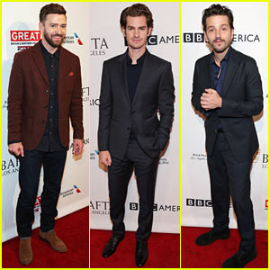 Justin Timberlake, Andrew Garfield, & Diego Luna Work Their Charm at BAFTA Tea Party