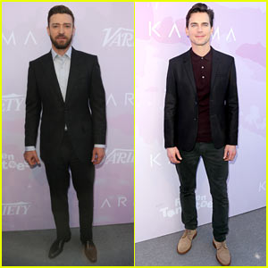 Justin Timberlake & Matt Bomer Are Handsome Studs at Variety Brunch