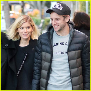 Newly Engaged Couple Kate Mara & Jamie Bell Have Adorable Afternoon Tea Date