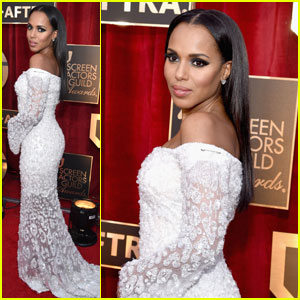 Kerry Washington Makes Political Statement on the SAG Awards 2017 Red Carpet