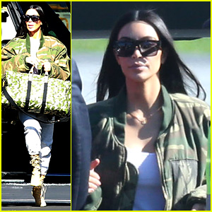 Kim Kardashian Flies Out of Town on Private Jet with Her Family
