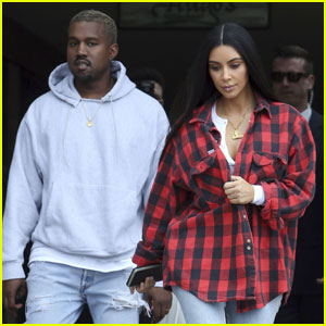 Kim Kardashian Rocks Lip Ring For Lunch With Kanye West