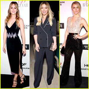 Leighton Meester, Hilary Duff, & Julianne Hough Are Fashionable Women at the Harper's Bazaar Party!