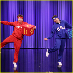 VIDEO: Mike Myers & Jimmy Fallon Battle It Out In Hilarious 'Tonight Show' Dice Dance-Off!