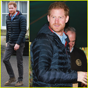 Prince Harry Visits Veterans At Help For Heroes Recovery Centre!