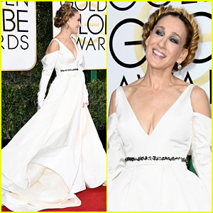 Sarah Jessica Parker's Golden Globes 2017 Look Pays Tribute to Carrie Fisher!