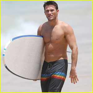 Scott Eastwood Looks Ripped While Surfing in Sydney