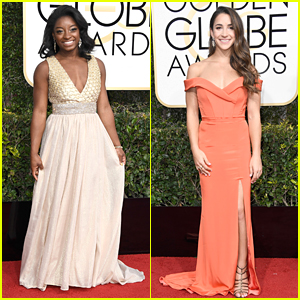 Simone Biles & Final Five Teammates Hit Golden Globes 2017 Together