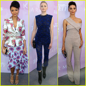 Thandie Newton, Sophie Turner, & Angela Sarafyan Show Off Their Style at Variety Brunch