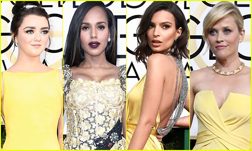 Yellow is The Second Most Popular Color at the Golden Globes 2017 -- Who Wore it Best