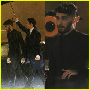 Zayn Shoots 'I Don't Wanna Live Forever' Video in Rainy London