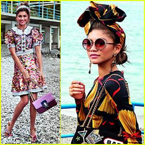 Zendaya Stuns in Festive New Dolce & Gabbana Women's Campaign